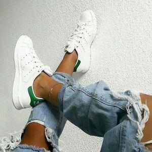 Adidas white/green